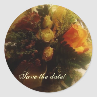 Save the date! classic round sticker