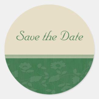 Save the Date Classic Round Sticker