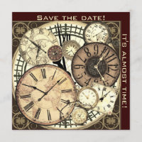 save the date - clocks - invitation template