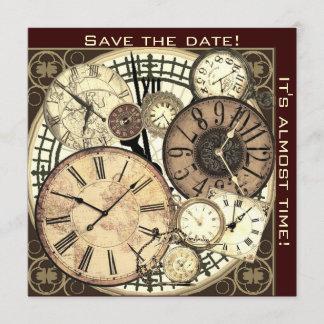 save the date - clocks - invitation template