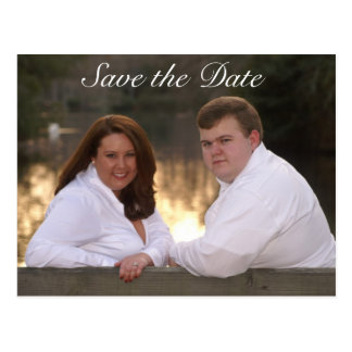 Save the Date color pic Postcard