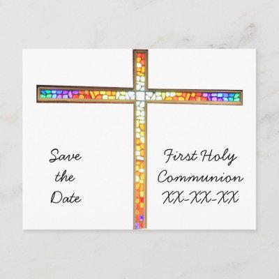 Save The Date First Holy Communion Boy Invite Zazzle Com