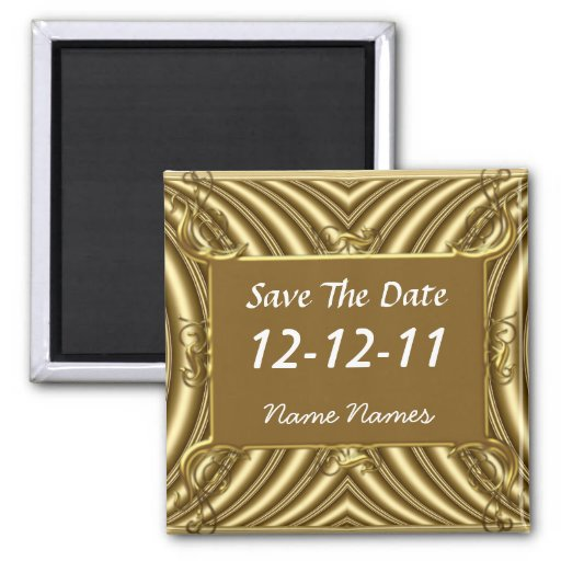Save the Date Create Your Own Gold Magnet Magnet