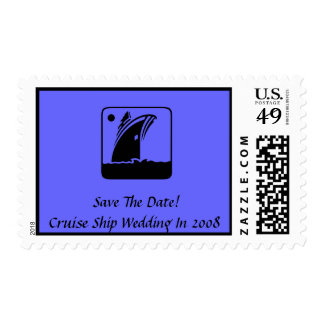 Save The Date! Cruise Ship Wedding In 2008 Postage Stamps