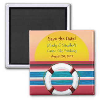 Save the Date Cruise Wedding Magnet