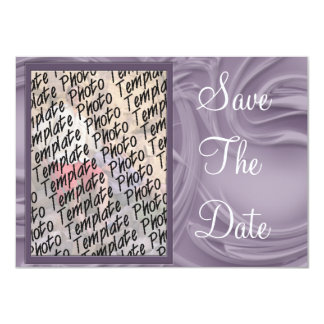 """""""Save the Date"""" Curls Over Purple 4.5"""" X 6.25"""" Invitation Card"""