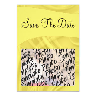 """Save the Date"" Curls Over Yellow Card"