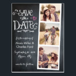 "Save the Date | Curved Type Chalkboard Postcard<br><div class=""desc"">PLEASE NOTE: the back of this card is completely customizable and you can either add a photo or choose to not have a photo and write a personal message instead.</div>"