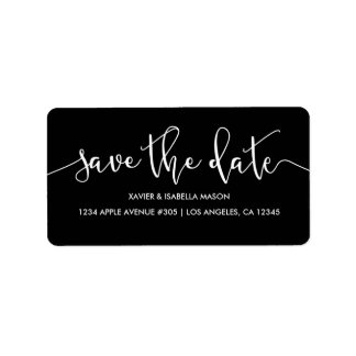 Save The Date | Custom Background Color Label