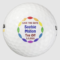 Save The Date Custom Golf Wedding Golf Balls