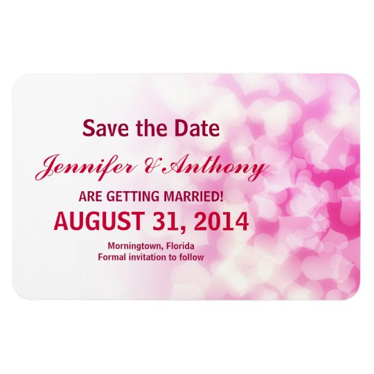 save the date custom modern magnets