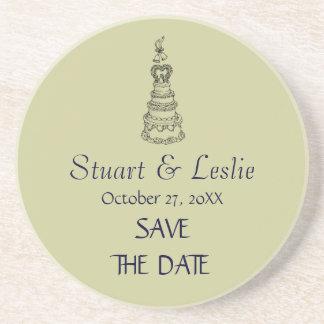 Save The Date Custom Modern Wedding Coaster