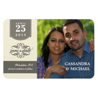 Save the Date - Custom Photo Rectangular Photo Magnet