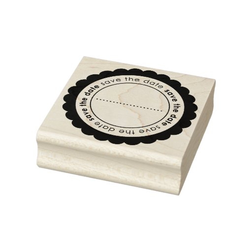 Save the date custom rubber art stamp zazzle for Custom craft rubber stamps