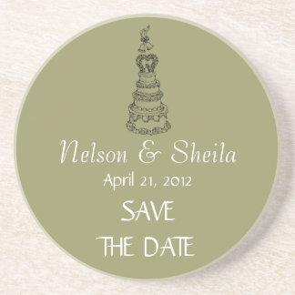 Save The Date Custom Wedding Coaster