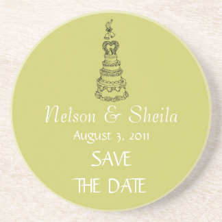 Save The Date Custom Wedding Coasters (Mod)