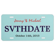 Save The Date - Custom Wedding License Plate at Zazzle