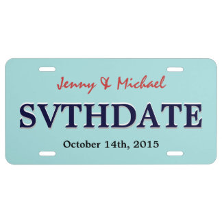 Save the Date - Custom Wedding License Plate