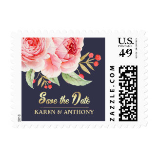 Save the Date Custom Wedding Postage Stamps