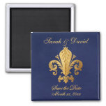 Save the Date Customizable 2 Inch Square Magnet
