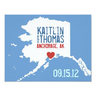 Save the Date - Customizable - Alaska 4.25x5.5 Paper Invitation Card