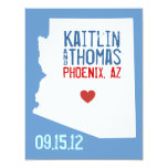 Save the Date - Customizable - Arizona 4.25x5.5 Paper Invitation Card