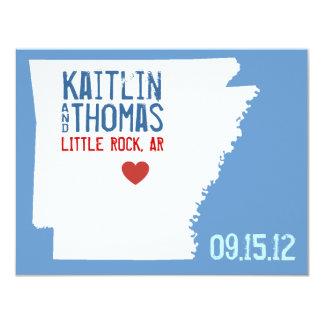 Save the Date - Customizable - Arkansas 4.25x5.5 Paper Invitation Card