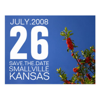 Save the Date Customizable Berry Post Card