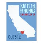 Save the Date - Customizable - California 4.25x5.5 Paper Invitation Card