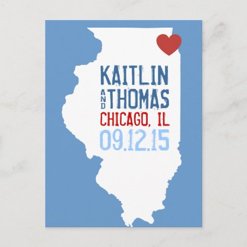 Save the Date _ Customizable _ Illinois Announcement Postcard