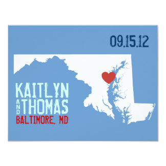 Save the Date - Customizable - Maryland / D.C. 4.25x5.5 Paper Invitation Card