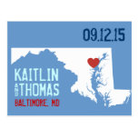 Save the Date - Customizable - Maryland Postcard