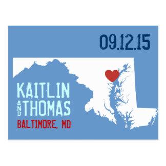Save the Date - Customizable - Maryland Postcard