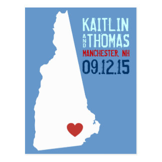 Save the Date - Customizable - New Hampshire Postcard