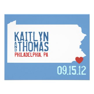 Save the Date - Customizable - Pennsylvania Announcements
