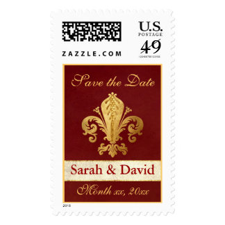 Save the Date Customizable Postage Stamps