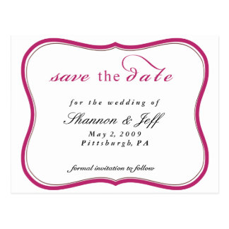 Save The Date, Customizable Post Card