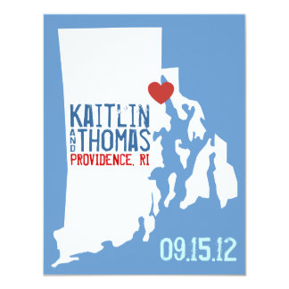 Save the Date - Customizable - Rhode Island Card