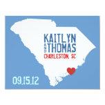 Save the Date - Customizable - South Carolina 4.25x5.5 Paper Invitation Card