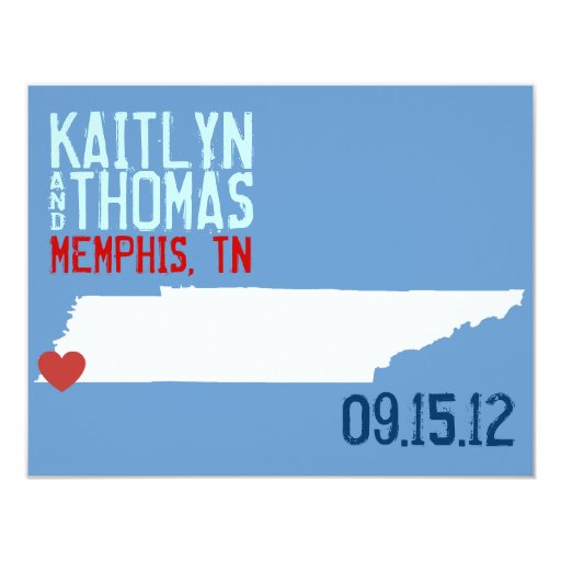 Save the Date - Customizable - Tennessee 4.25x5.5 Paper Invitation Card