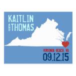 Save the Date - Customizable - Virginia Post Card