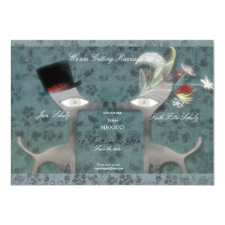 Save the date customizable wedding trend blue card