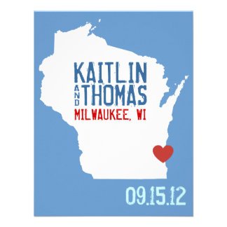 Save the Date - Customizable - Wisconsin Personalized Announcements