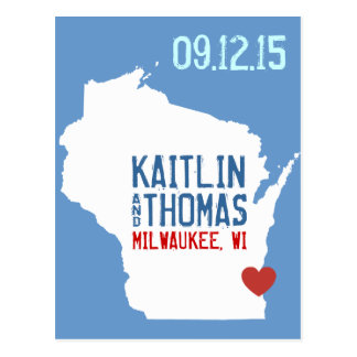 Save the Date - Customizable - Wisconsin Post Card