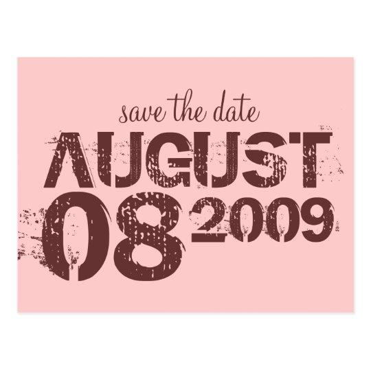 save the date - customize postcard