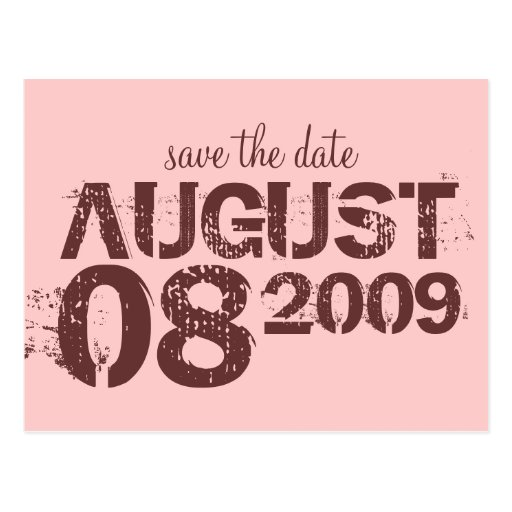 save the date - customize postcards