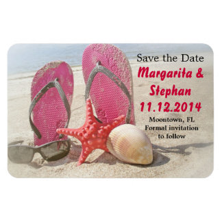 save the date cute beach magnets