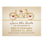 save the date cute bicycle postcards