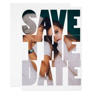 Save The Date Cutout Photo Wedding Personalized Invitation