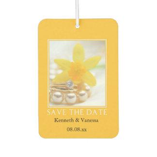 Save the Date! Daffodil Spring wedding Car Air Freshener